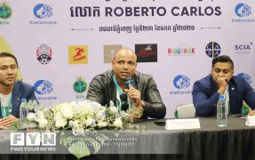Brazilian Football Legend Roberto Carlos Visits Cambodia